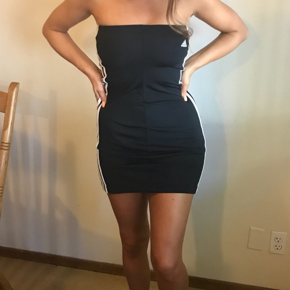 abab8b90d08 adidas Dresses   Skirts - Vintage Adidas Tube Track Dress